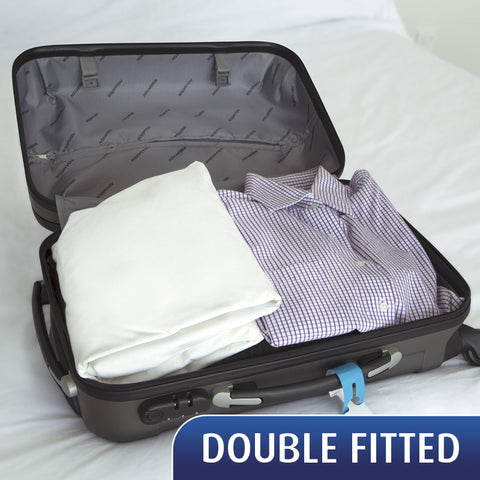 SPECIAL - Travel Sheet - Double Fitted Sheet - 20% Off for a limited time