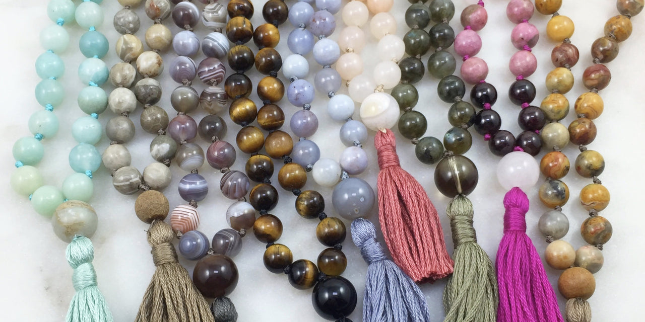 handmade malas, prayer beads, and intentional jewelry made with ...