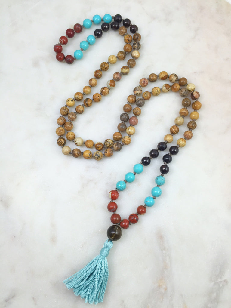 Triple Dipped Picture Jasper Mala