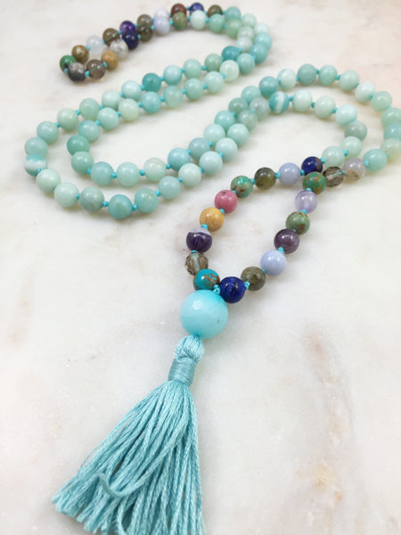 """Dipped"" Amazonite & Orphans Mala"