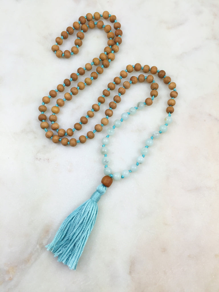 Sandalwood Mini with amazonite