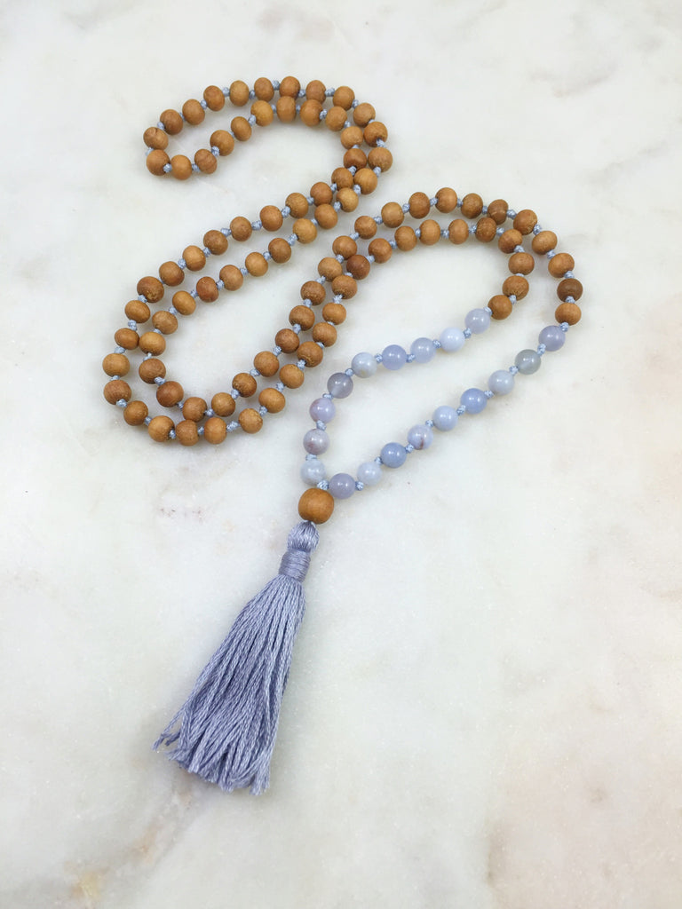 Sandalwood Mini with Blue Chalcedony