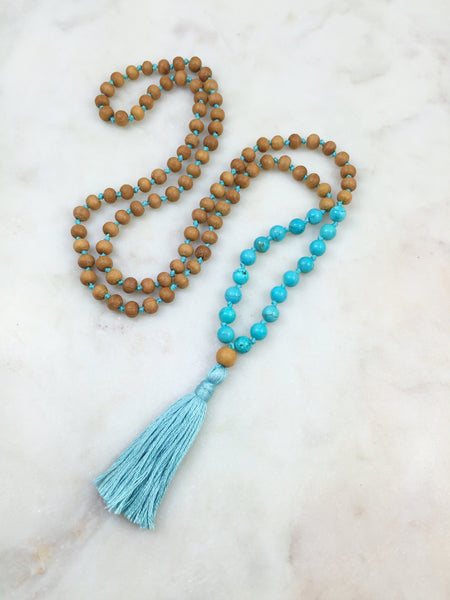 Sandalwood Mini with turquoise