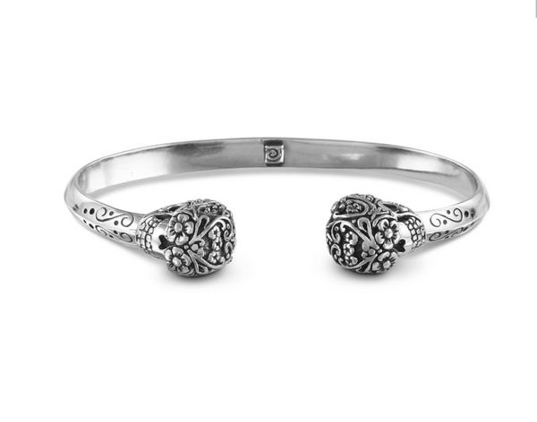Day of the Dead Cuff in sterling silver