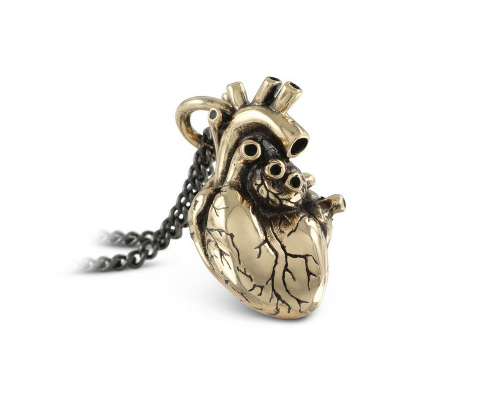 Anatomical heart in bronze