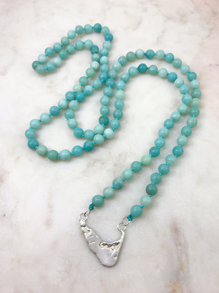 Amazonite Nantucket Mala