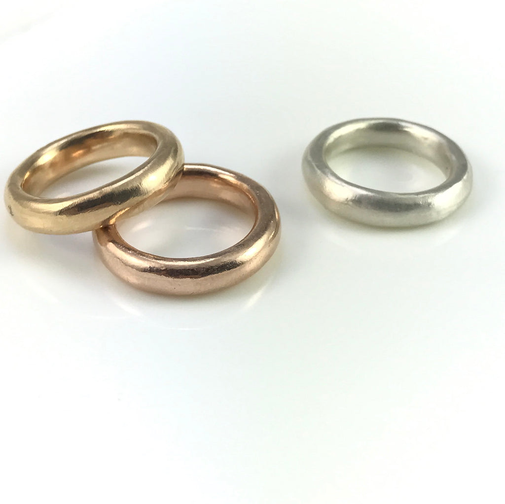 Handmade 18k gold rings
