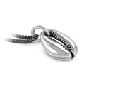 Cowrie shell in sterling silver