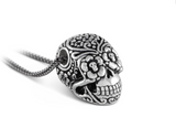 Day of Dead skull in sterling silver