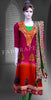 Orange and fushia pink embroidered Chikankari Suit #FDSKH0048_001