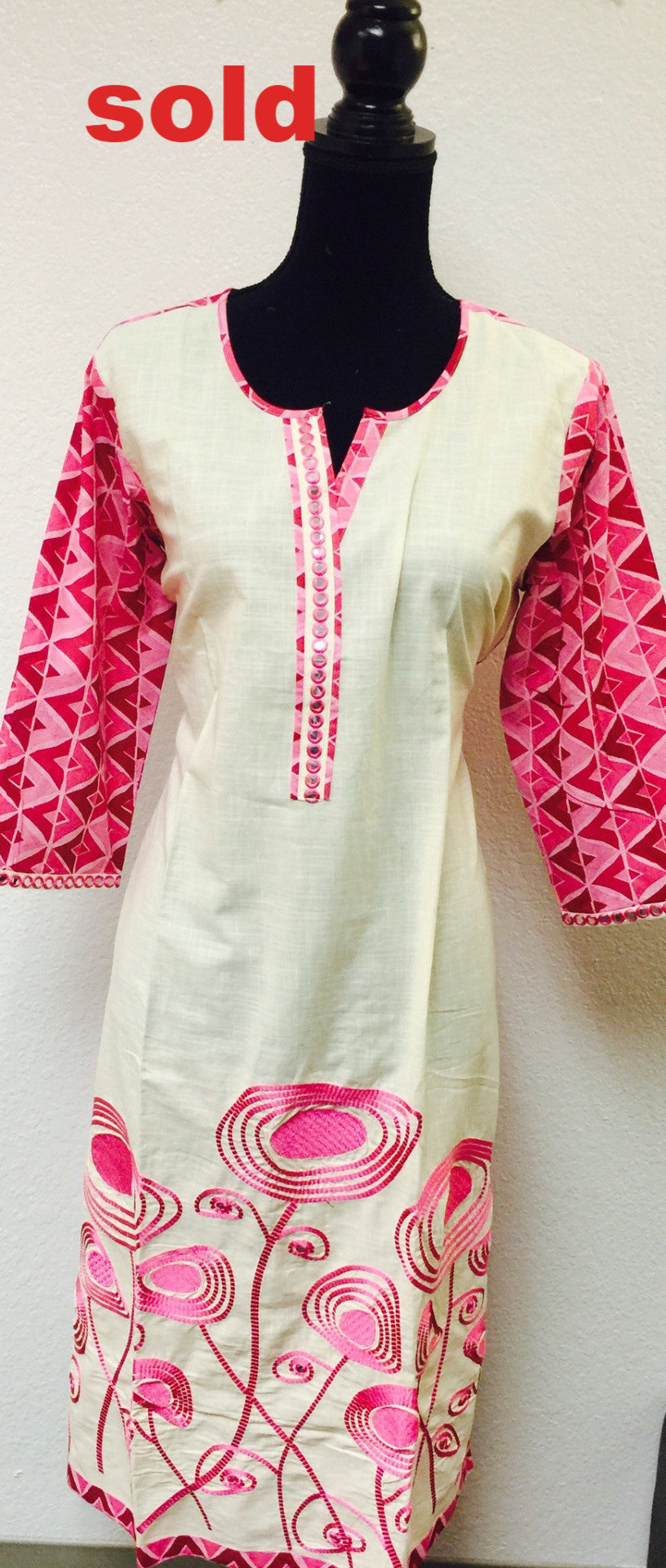 Cotton embroidered kurti # Fdn0113 A