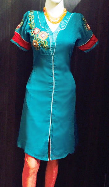A Blue Embrodiered Kurta Fdn0032