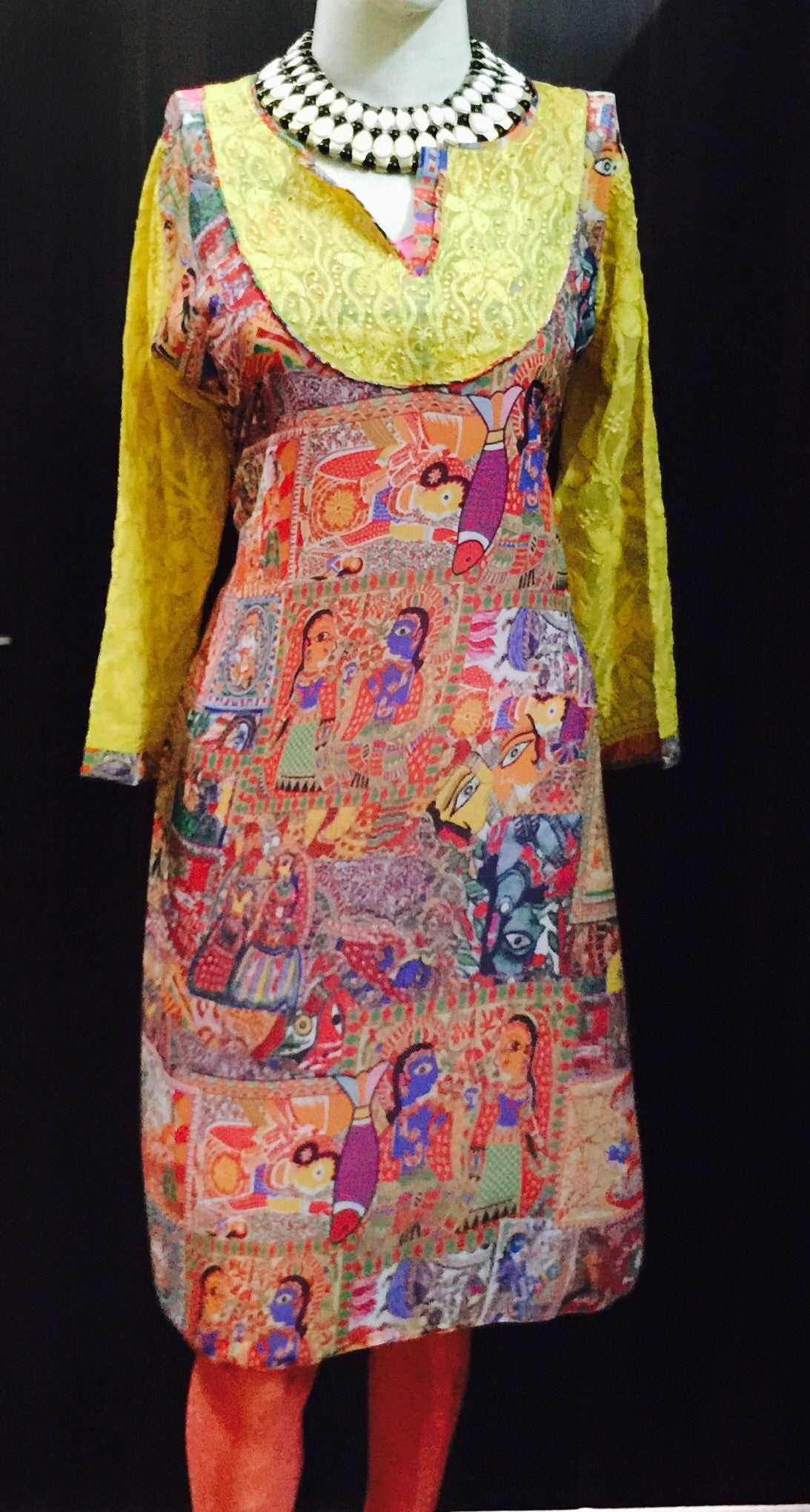 digital print kurta with embroidered back #FDN0082