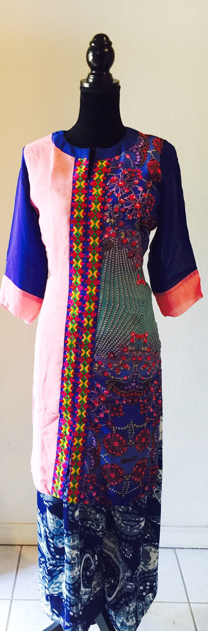 A beautiful embroidered palazzo  dress in print.#FDSKHPR023