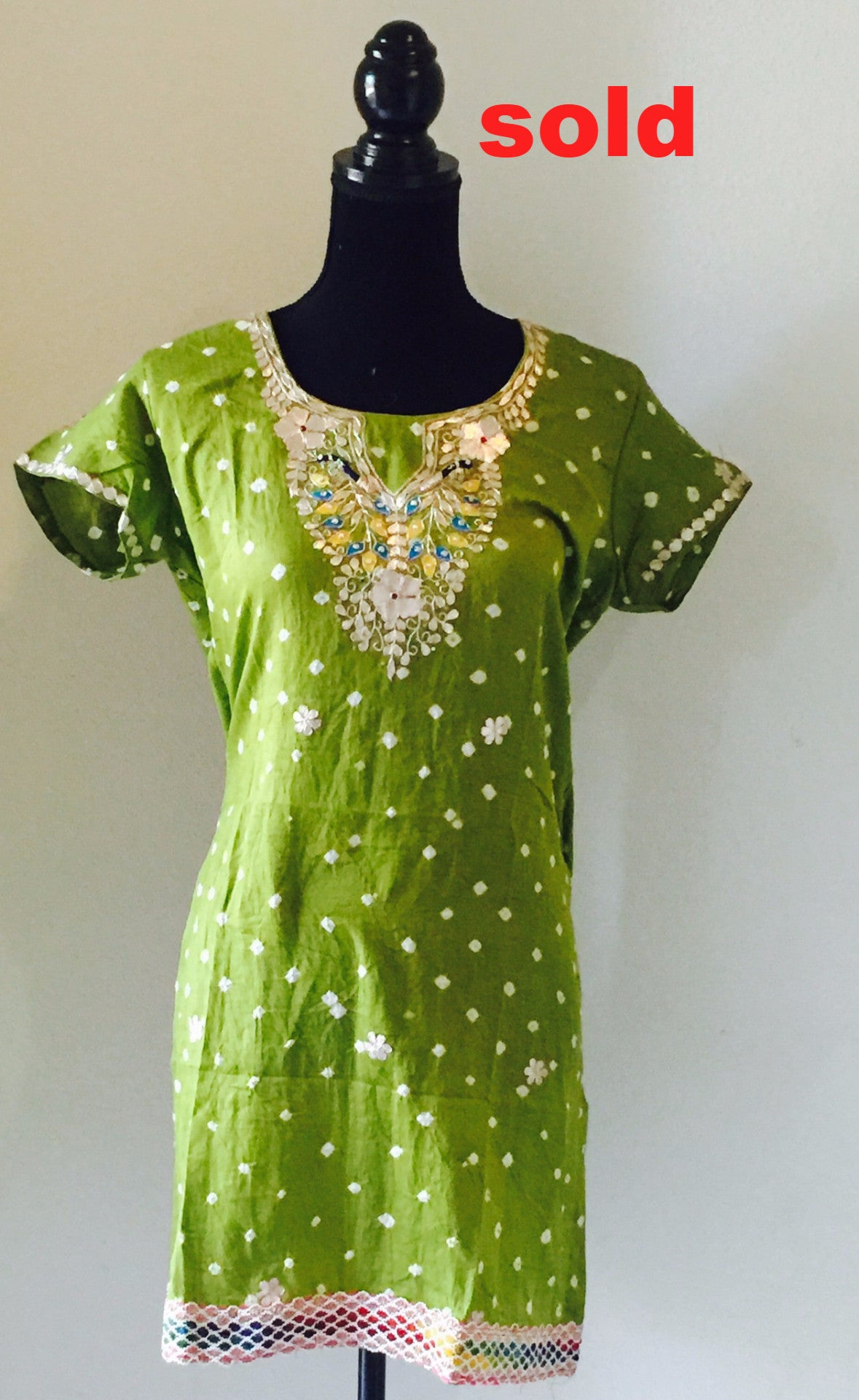 Green kurti with embroidery #FDJP001