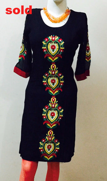 A VERY BEAUTIFUL EMBROIDERED KURTA #Fdn0039