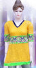 Bright yellow chickankari embroiderd short kurti #FDSKH0002_001