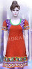 Orange and purple chickankari work embroidered long kurti #FDSKH0003_001