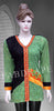 green / black chickankari work embroidered short kurti #FDSKH0068_001