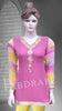 Pink color pearl embroidered short Kurti #FDSKH0041_001