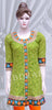 Green color chickankari work embroidered long kurti #FDSKH0009_001