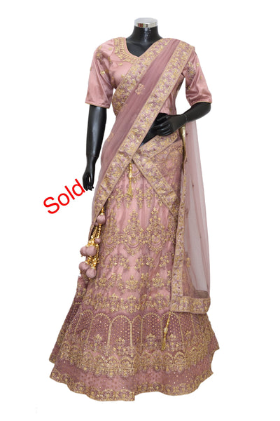 Heavy embroidered lengha #fdn4033-1001
