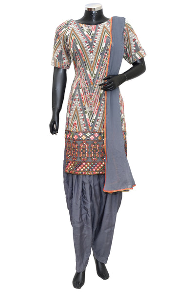 Embroidered patiala set #fdn8024-601