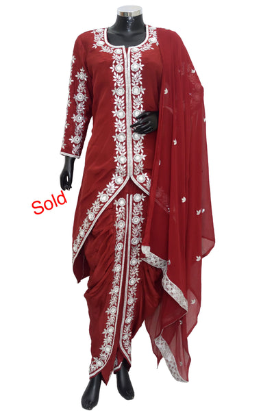 Embroidered dhoti set #fdn5058-851