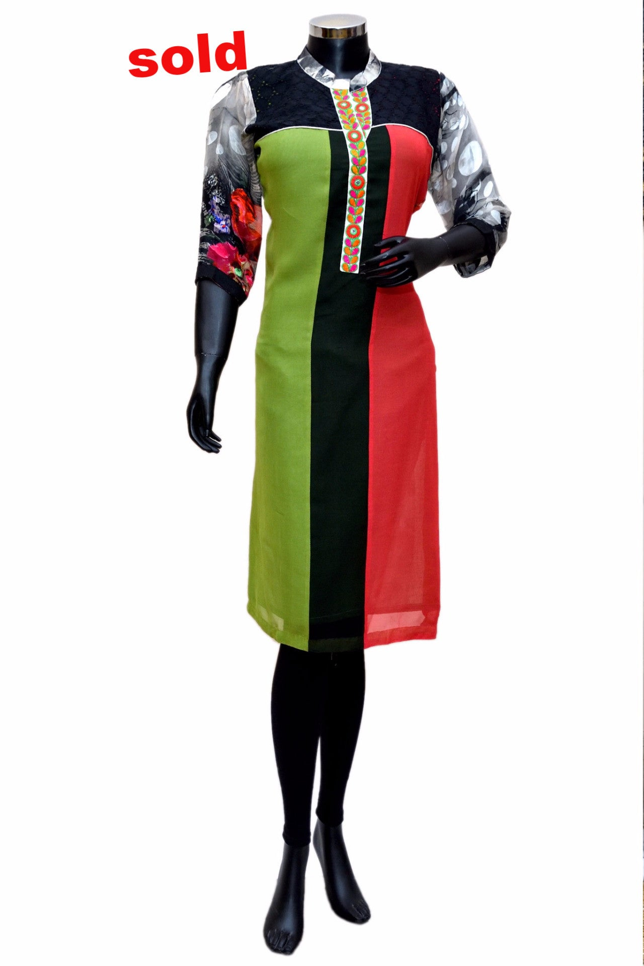 Multicolored georgette  kurta # fdn0257