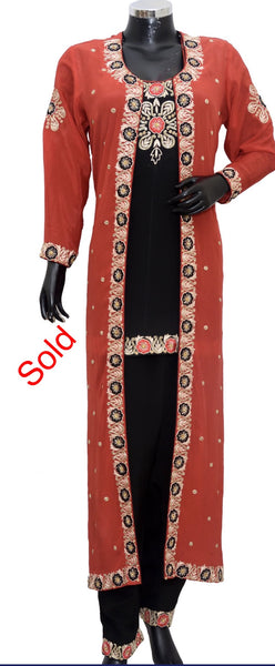 Long embroidered jacket dress #fdn5028-571