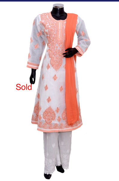 Chikankari full set #fdn2015-301