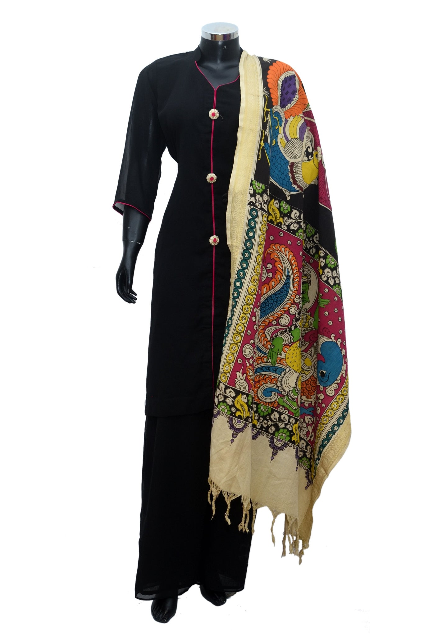 Kalamkari dupattas with palazo sets #fdn890-271