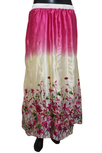 A printed long skirt in pink # fdn0482 / 10