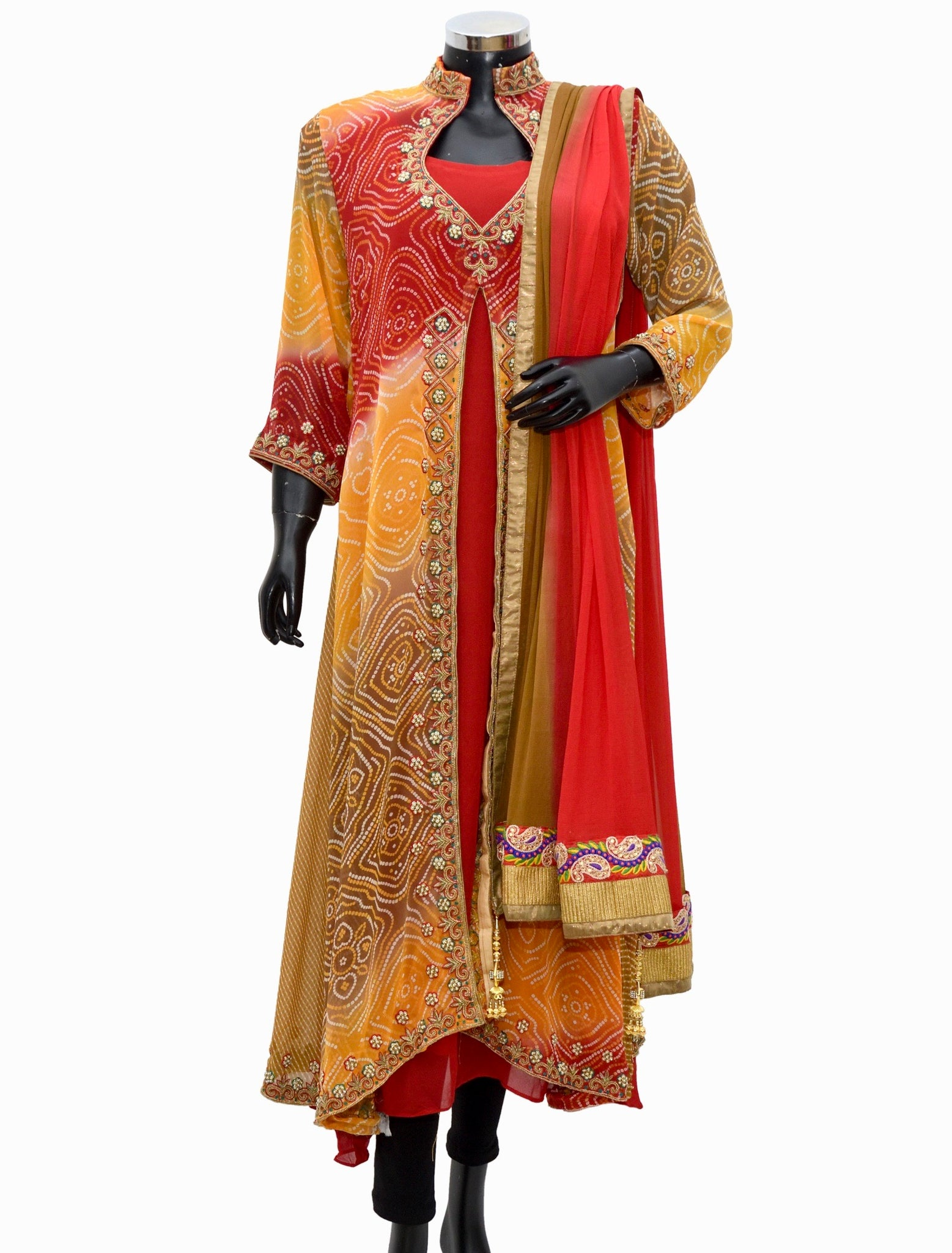 Embroidered long jacket dress #fdn1092-481