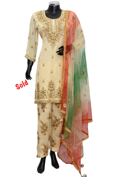 Embroidered party wear dress #fdn5061-801
