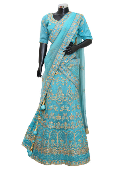 Heavy embroidered Lengha#fdn4032-1001