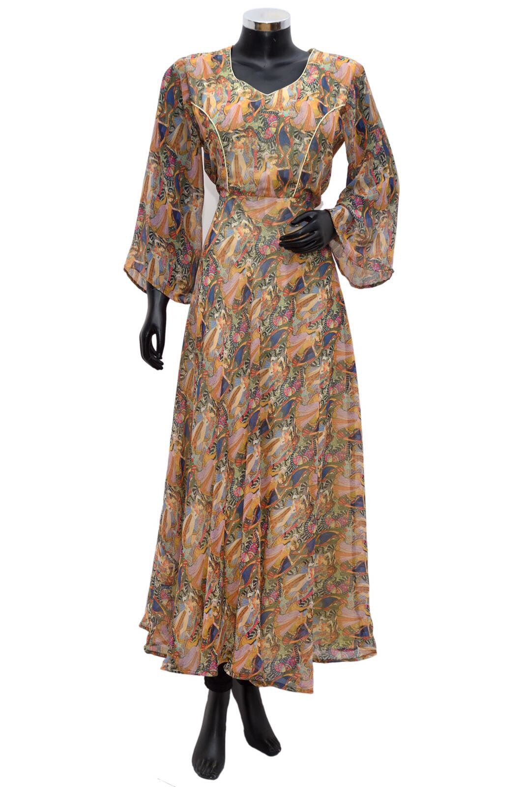 A long maxi dress printed #fdn671-141