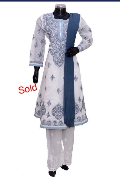Chikankari cotton full set #fdn2023-301