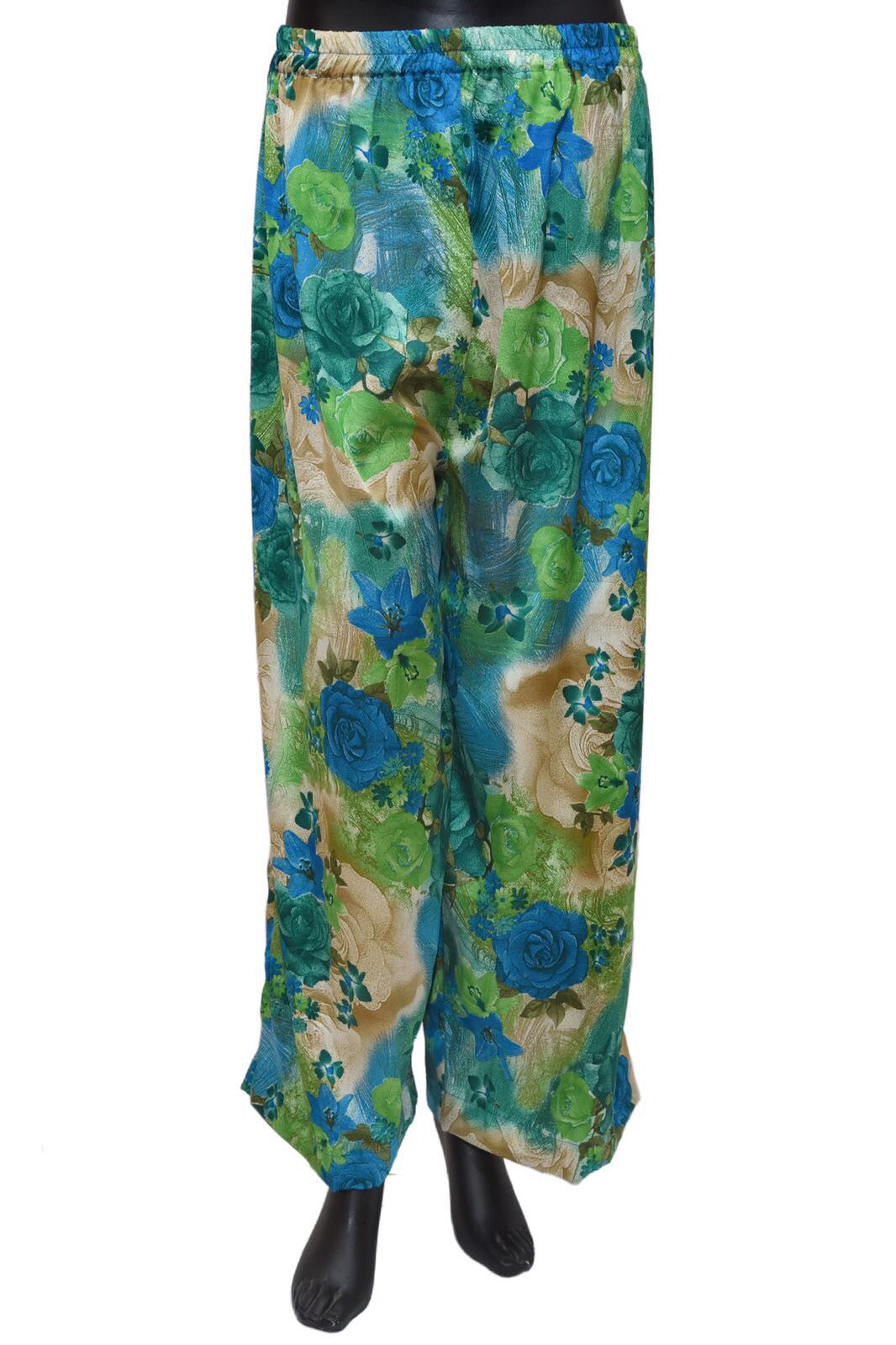 A green and beige color palazzo pants #fdn0473 / 6