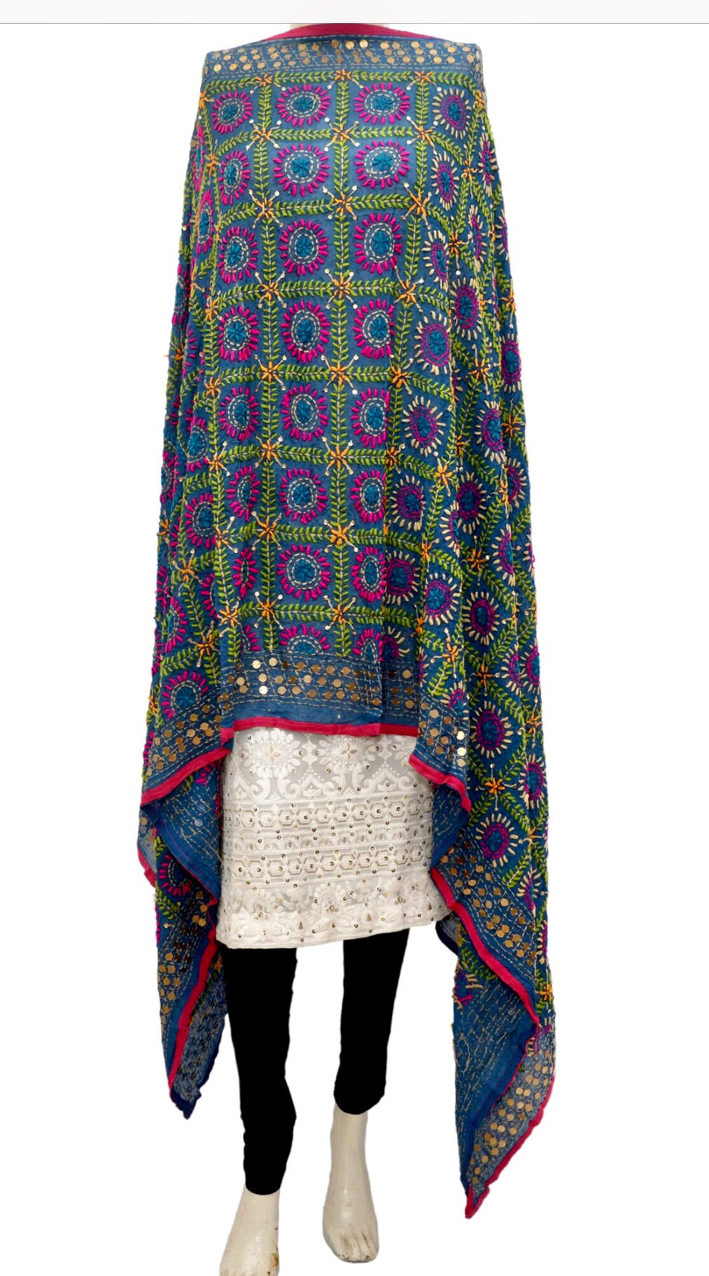Embroidered dupatta #fdn911-141