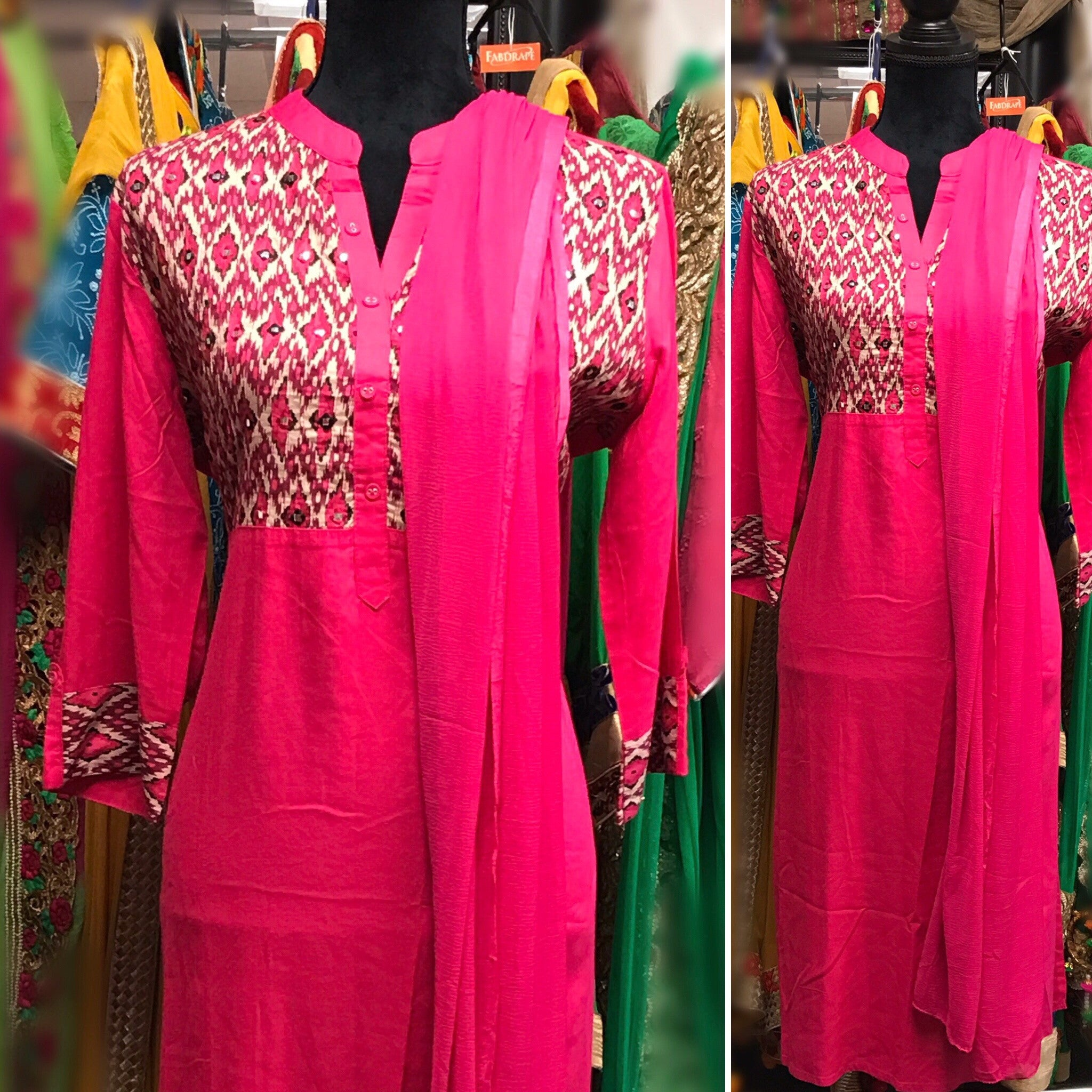 Pink embroidered suit #fdn0209 /14
