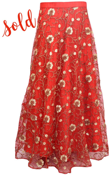 Fancy embroidered skirt #fdn4087-201