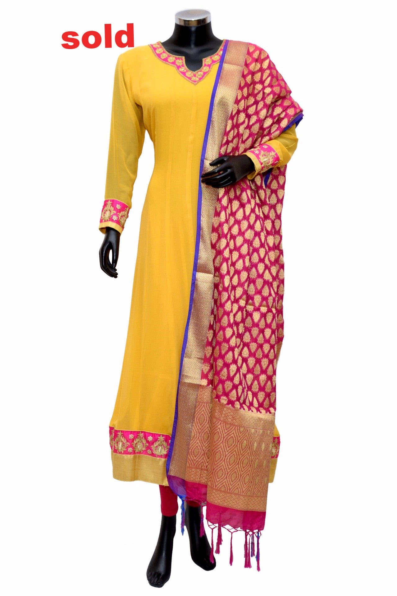 A lovely long anarkali kurta with banarsi dupatta# fdn0291