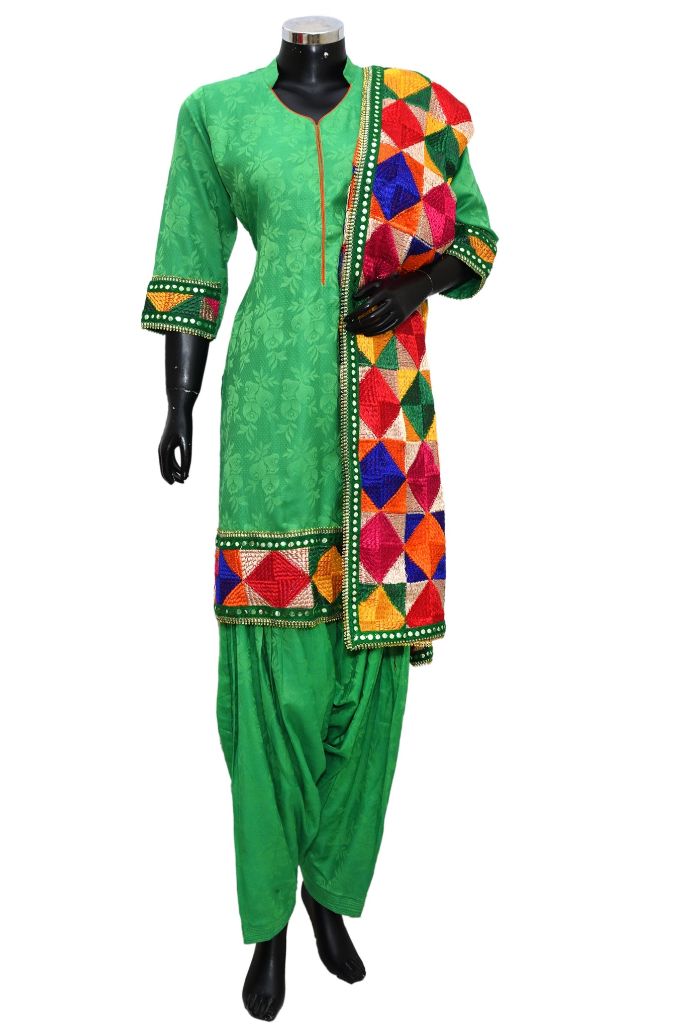Phulkari patiala set #fdn1148-191