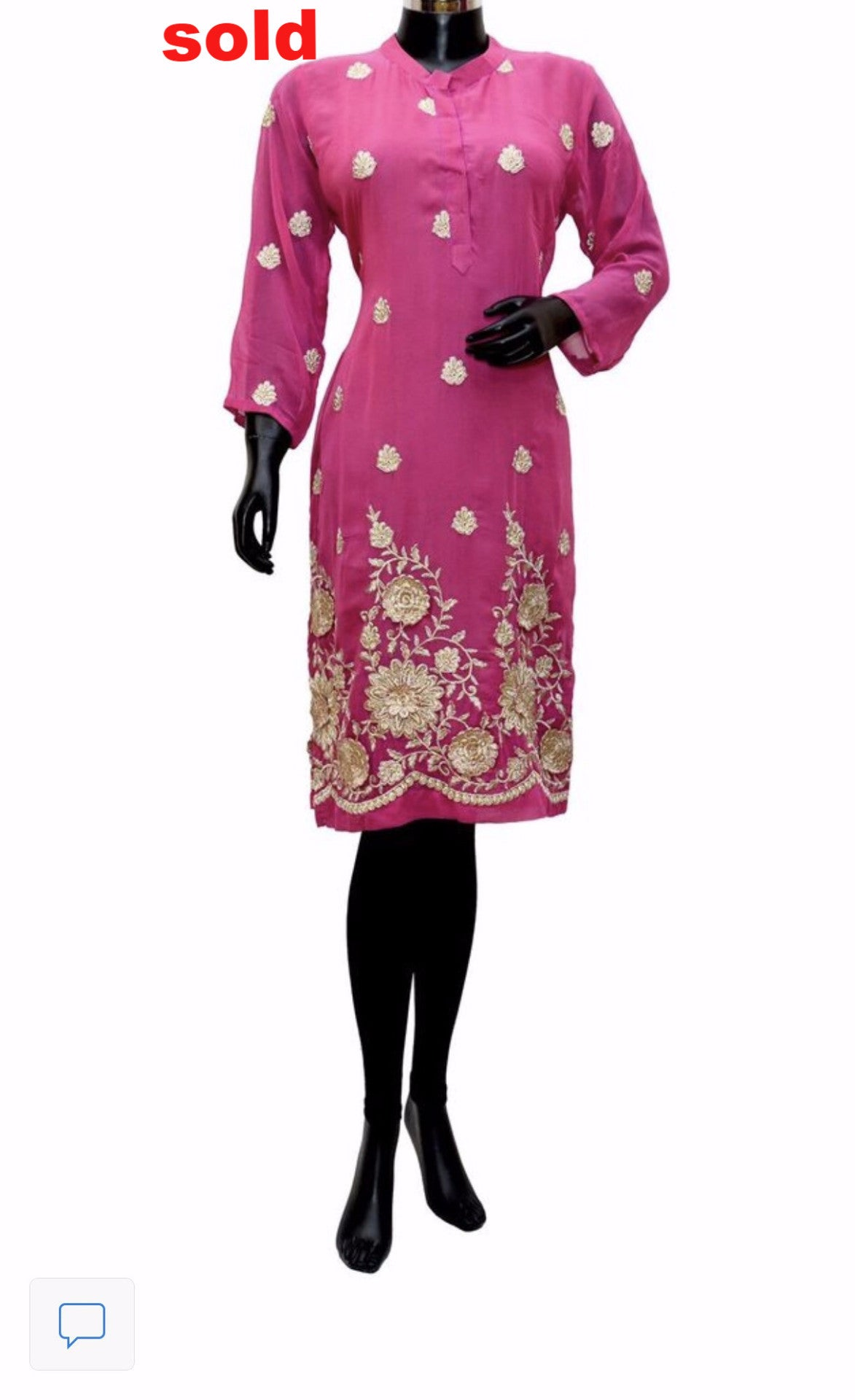 Pink embroidered kurti # fdn0274