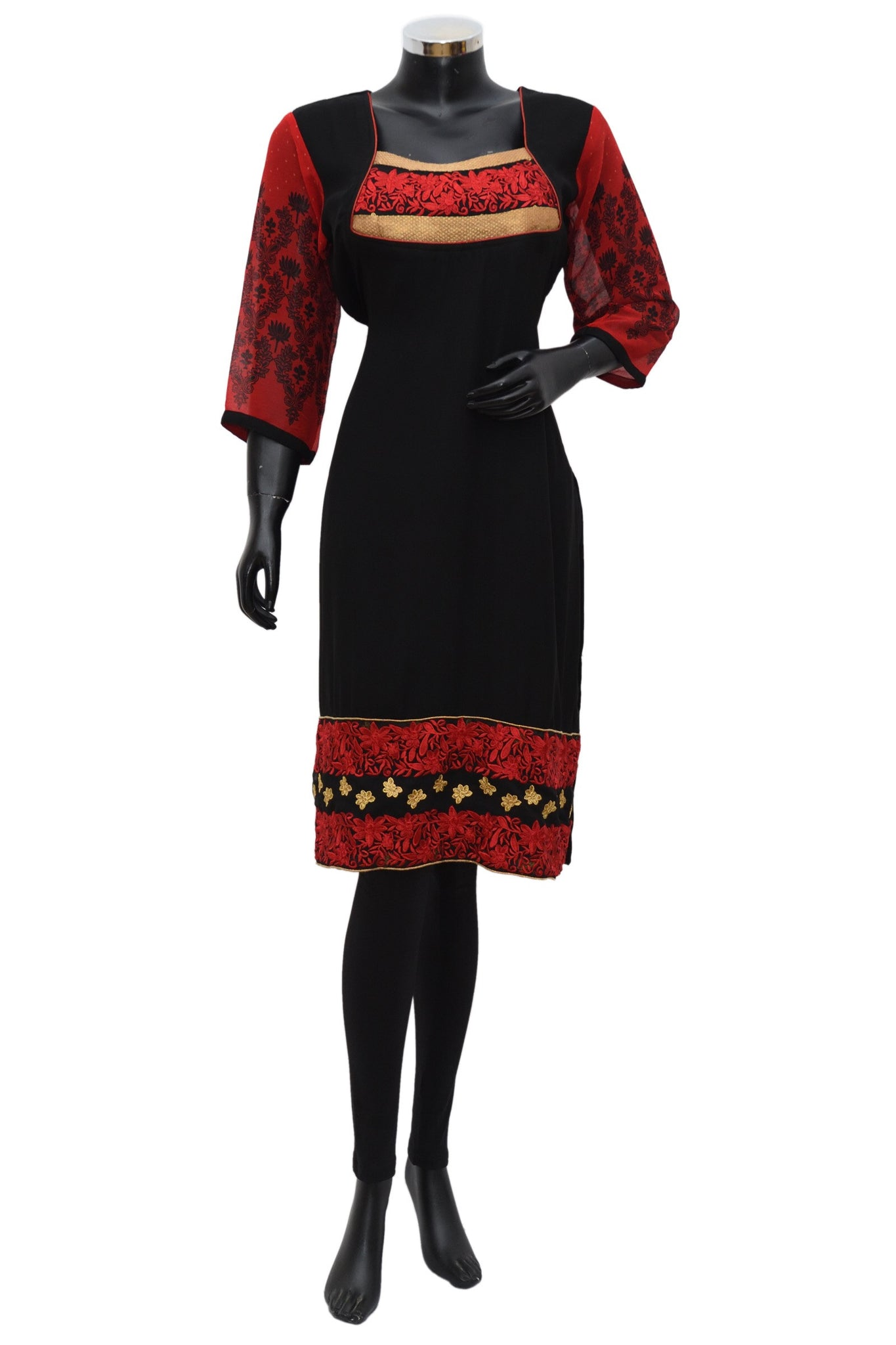 A georgette long embroidered kurta #fdn667-121