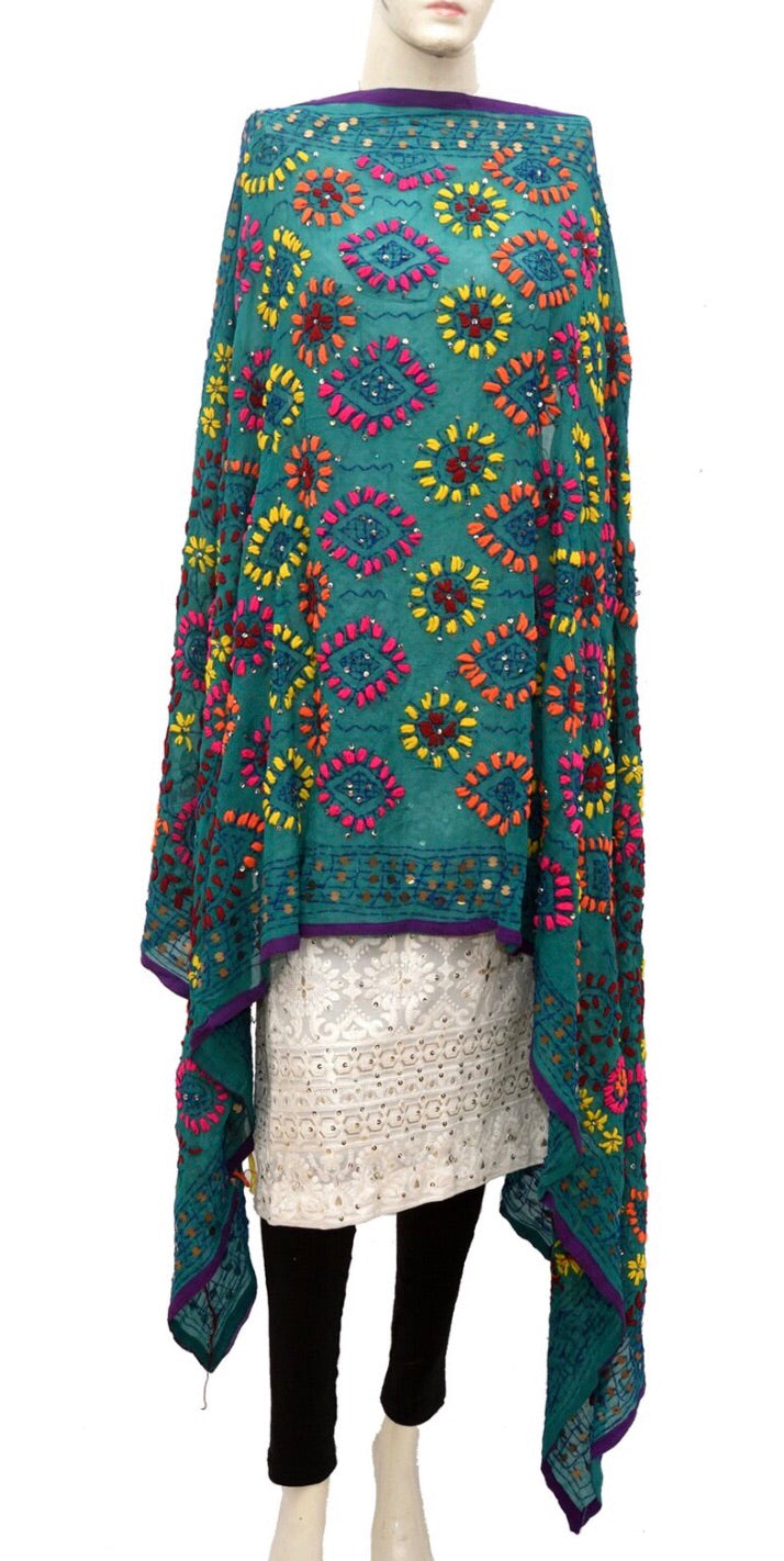 Embroidered dupatta #fdn945-141