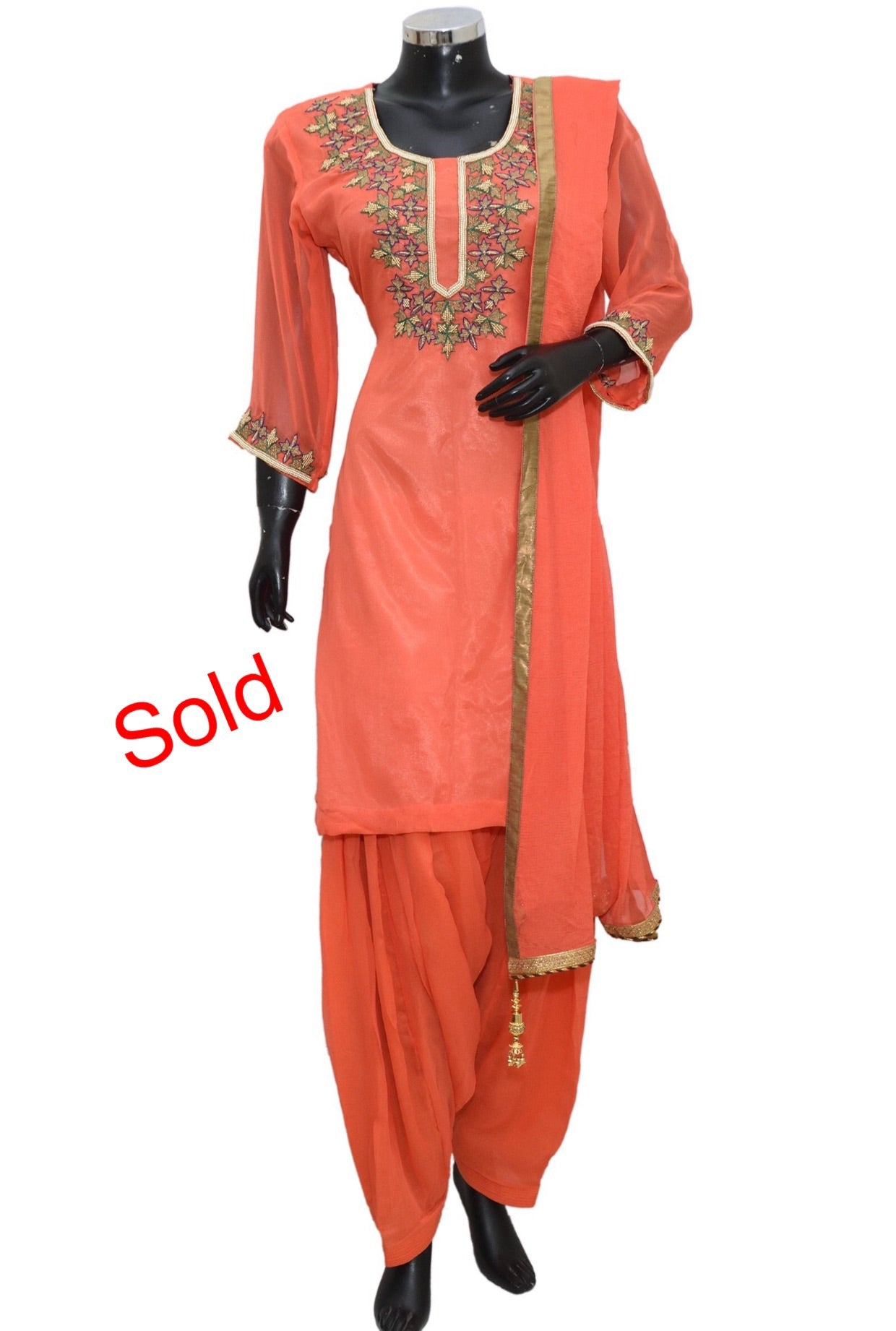 Patiala embroidered set #fdn1165-321