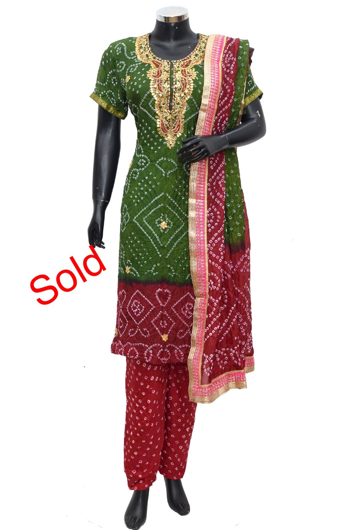 Art silk bandheni full set #fdn1036-171