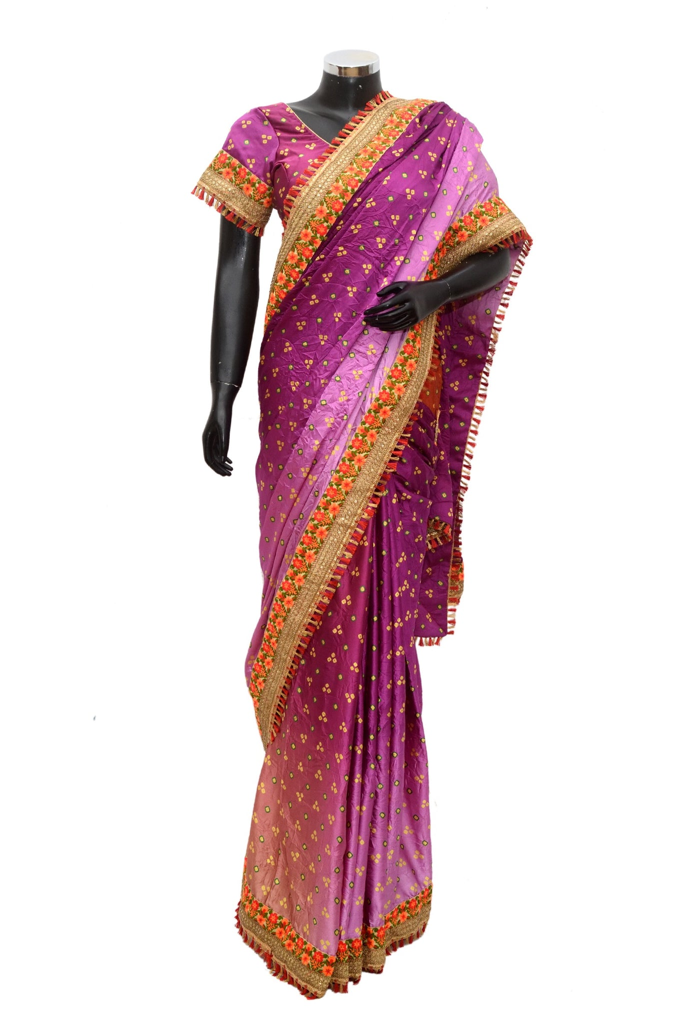 Embroidered silk saree #fdn909-321